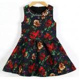 Платье нарядное Цветы, черное