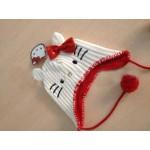 Шапочка белая Hello Kitty от 6мес до 3лет