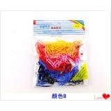 Цветные резинки для волос (200шт в упаковке)